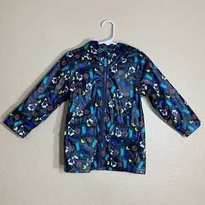 Cat & Jack toddler boy space theamed rain coat